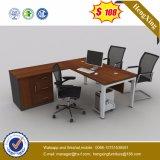 Estructura L vector ejecutivo de la oficina del escritorio de la melamina de la dimensión de una variable (HX-G0092) del metal