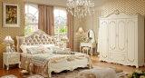 حديثة [فرنش] خشبيّة بالغ غرفة نوم مجموعة أثاث لازم