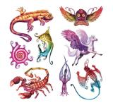 Tattoo искусствоа стикера Tattoo переноса воды Tattoo животных временно