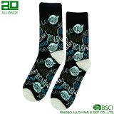 Beiläufige Leistungs-erregte kundenspezifische Mann-Kleid-Socken