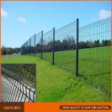 Dunkelgrüne 3 Falten schweißten Maschendraht-Zaun