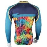 Цветастая куртка спортов способа покрывает втулка Breathable быстро сухой задействуя Джерси людей длинняя