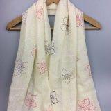 Drucken-Blumen-Schal für Mädchen-Form-Zusatzgeräten-Schale