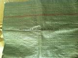 Saco tecido PP novo do material 25kg de 100%