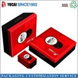 Коробка серого подарка бумажной коробки коробки чая доски изготовленный на заказ упаковывая