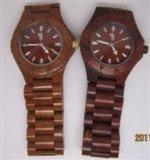 100%の自然な木製の人の方法木の腕時計