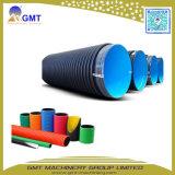 Linha ondulada da máquina da extrusão da tubulação da parede dobro do plástico HDPE/PVC