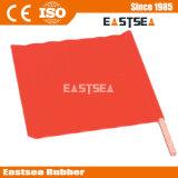 Orange Farben-Ineinander greifen Belüftung-Gewebe-materielle Verkehrs-Markierungsfahne (MARKIERUNGSFAHNE)
