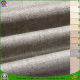 Tela de lino tejida apagón impermeable casero de la cortina del poliester del franco de la materia textil