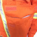Vêtements de travail protecteurs d'industrie de vêtement des hommes avec le Velcro/cordon/poche/chapeau