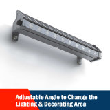 옥외를 위해 가벼운 사용 태양 무선 벽 세탁기 빛 광고
