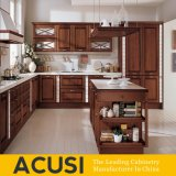 Armadi da cucina classici di legno solido di stile all'ingrosso dell'isola (ACS2-W05)