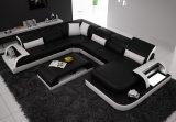 Modèle à la maison de mode de meubles pour le jeu de sofa de cuir de salle de séjour