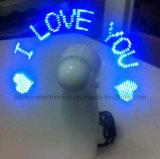 De la Navidad mini LED ventiladores 2017 de las palabras el contellear del regalo con insignia impresos (3509)