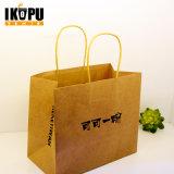 Изготовленный на заказ хозяйственная сумка бумаги Brown Kraft с мешком подарка печати логоса