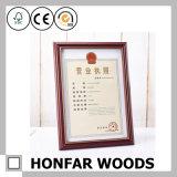 Blocco per grafici di legno moderno della foto del certificato del Brown per la decorazione da tavolino