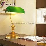 Lámpara de mesa moderna banquero Diseño de oro antiguo