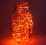 Oranje Kleur 50 Licht van het Micro- Koord van LEDs het Sterrige voor de Decoratie van de Kruik van het Glas
