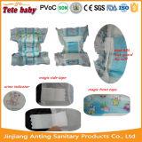 Tipos de tecidos descartáveis da fralda do bebê
