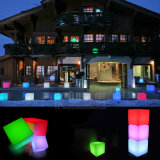 Mobilier de rotation Chaises et tables en cube LED RGB