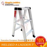 escada de alumínio do metal da escada 3steps