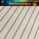 Weißes Polyester-Garn-gefärbtes Streifen-Hülsen-Futter-Textilgewebe (S90.105)