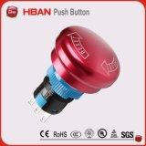 interruttore di pulsante rosso impermeabile di arresto Emergency di 19mm