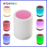 Lumière sans fil de contact de la musique DEL de haut-parleur de Bluetooth