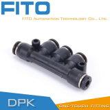Tipo di coppia di plastica nero di Airtac facile connettere
