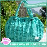 Sac coloré de sac à main de femmes de refroidisseur de polyester de filé de modèle