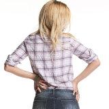 Fabrik Soem-Qualitäts-Dame-Hemd-beiläufige Baumwolloberseite-Hemden
