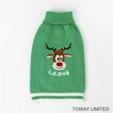 Suéteres del perro de Santa de la Navidad que hacen punto la ropa del animal doméstico