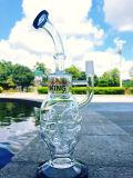 Conduite d'eau en verre de crâne de 12 pouces de gant de baseball en verre neuf de cendre avec le prix usine