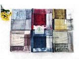 Neuer Entwurfs-Schal mit Plaid gedruckter Satin-Form-Dame Scarf Factory