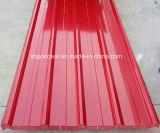 Hoja de acero galvanizada prepintada PPGI para el material para techos del metal