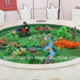Formato del fornitore della Cina il grande elettrico gira con la Tabella pranzante di marmo per l'ingegneria dell'hotel
