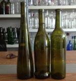 Botella de 750 ml verde oscuro del vino de Burdeos de cristal