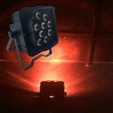 Nieuwe Aankomst 12 *15W 5in1 LEIDEN van Rgbaw PARI kan Licht van het Batterij In werking gestelde Draadloze LEIDENE Stadium WiFi van het PARI het Lichte voor de Partij van de Gebeurtenis