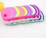 Caja divertida del silicón de la puntada 3D para el iPhone 5