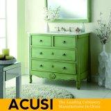 Neue erstklassige amerikanische einfache Art-festes Holz-Badezimmer-Eitelkeits-Badezimmer-Schrank-Badezimmer-Möbel (ACS1-W37)