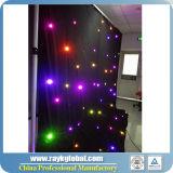 Cortina del contexto del paño de la estrella de la cortina LED de la estrella de la boda para el acontecimiento del partido