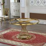 Universales uso de oro de acero inoxidable mesa de comedor redondo