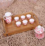 Cassetto di tè di bambù, piatto di bambù dell'alimento, scheda di bambù del pranzo