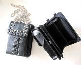 女性のためのThP6004 PUののどの革電話記憶の鎖袋