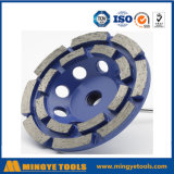 High Performance Double Row Diamond Cup Grinding Wheel