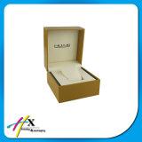 Brand Texture Wood MDF Emballage Boîte cadeau avec doublure en cuir