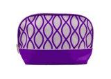 2016 جديدة تصميم بوليستر يحبك مستحضر تجميل حقيبة موجة يطبع بنية حقيبة