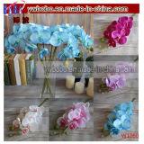 Artificial mariposa orquídea de seda flor casa jardín decoración de la boda (w1060)