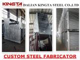 Soldagem da fabricação do frame da sustentação da construção de aço