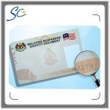 Tarjeta antifalsificación de la identificación con la filigrana/la impresión ULTRAVIOLETA ocultada